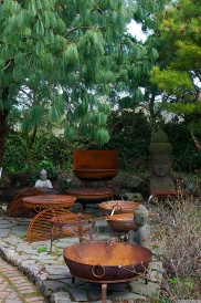 A corner of the meditation garden