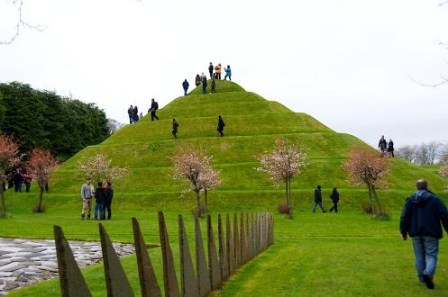 Snail mound at Portrack House