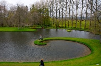 Curved lake at Portrack House
