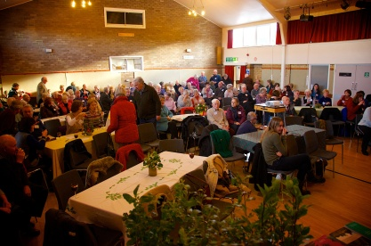 A full hall for the 2013 Christmas party