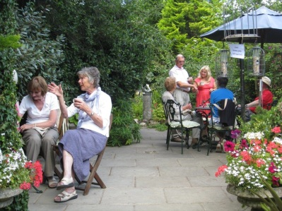 Members enjoying the McCormacks garden